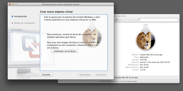 Virtualizar OS X Lion