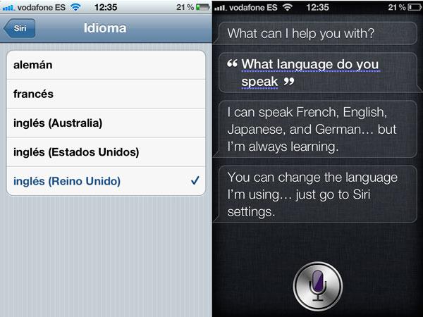Siri en Japonés