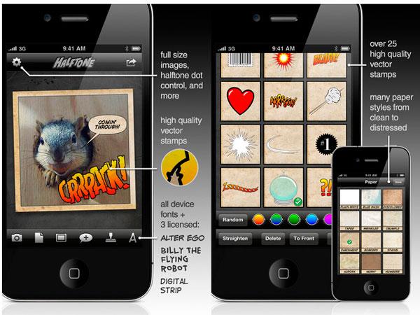 Aplicación Halftone iPhone