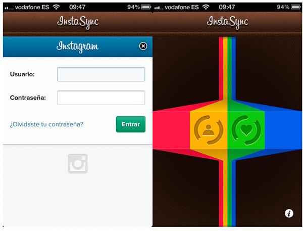 InstaSync para iPhone