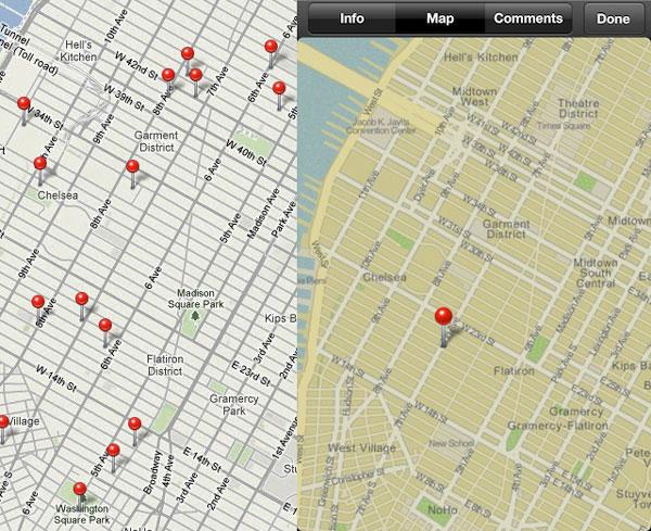 Mapas de iPhoto para iOS