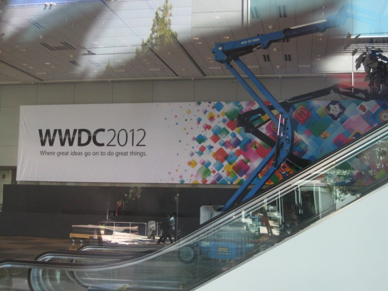 Escalera Moscone Center WWDC 2012