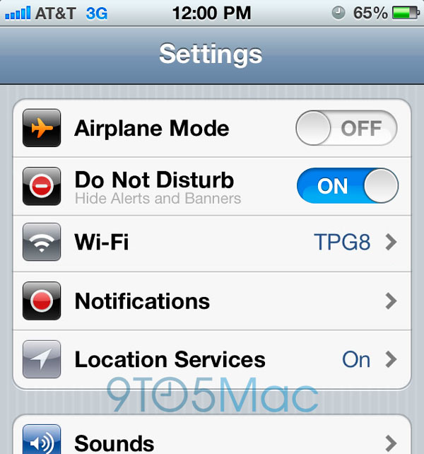 Función no molestar en iOS