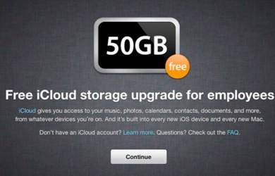 50GB de iCloud para empleados de Apple
