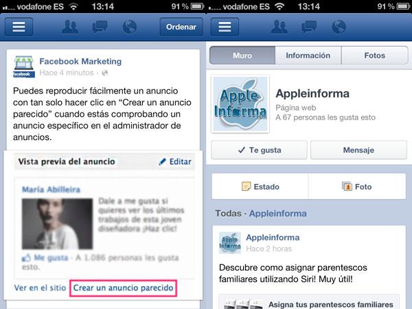 Nueva versión de FaceBook para iOS
