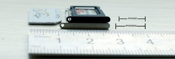 Así será la bandeja nanoSIM del iPhone 5
