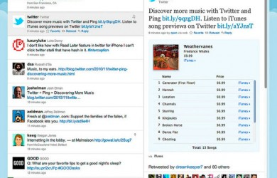 Integración de iTunes con Twitter