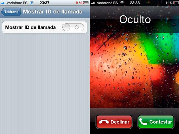 Llamadas con número oculto desde un iPhone