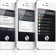 Siri en iPhone blanco