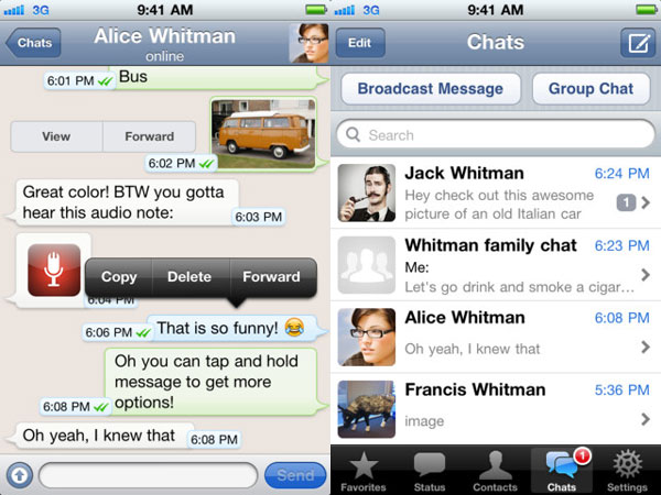 WhatsApp Messenger para iPhone
