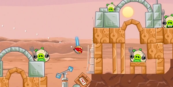 Angry Birds Star Wars in game