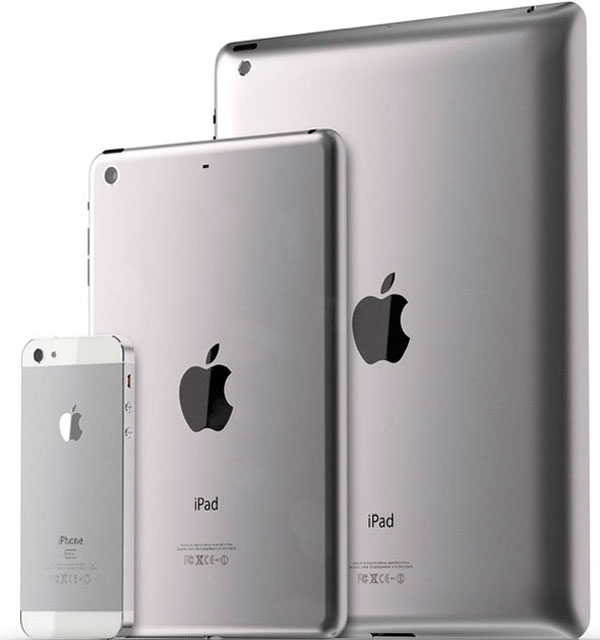 iPad Mini con iPhone 5 e iPad