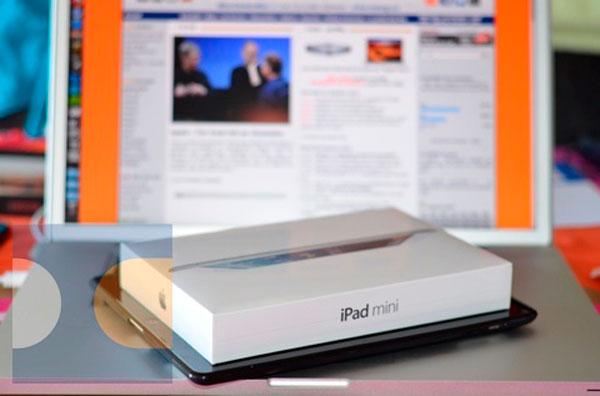 Caja iPad Mini comparada con iPad 3
