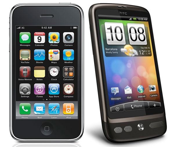 Apple y HTC