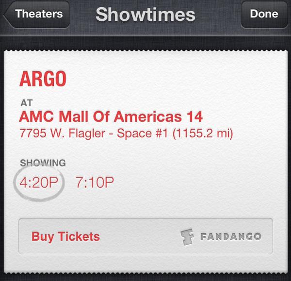Comprar entradas con Siri y Fandango