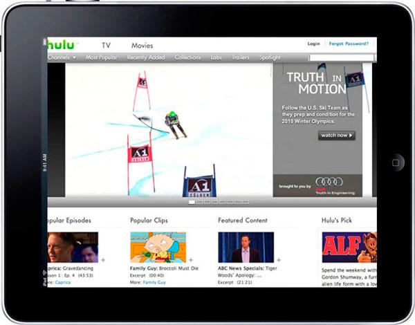 iPad en Hulu