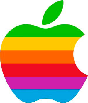 Logo Apple colores arcoiris