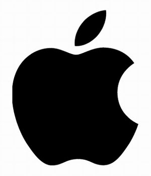 Logo Apple monocromático