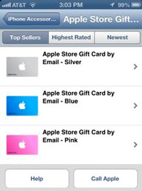 Tarjetas regalo AppStore