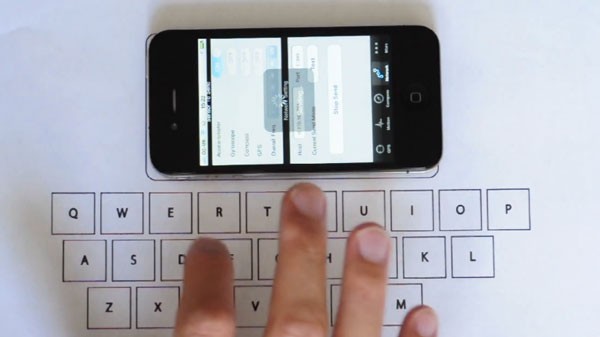 Teclado virtual para iPhone