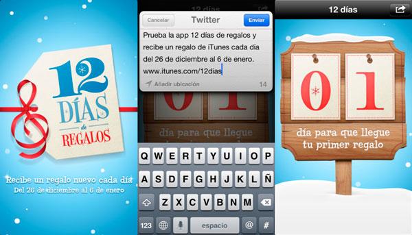 12 días de regalos de iTunes app