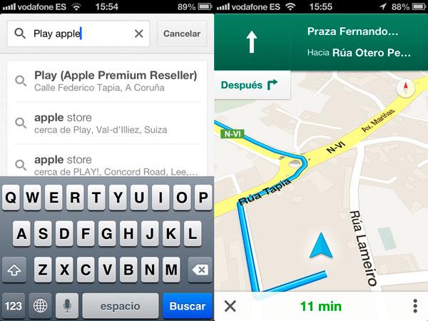 Navegación con Google Maps