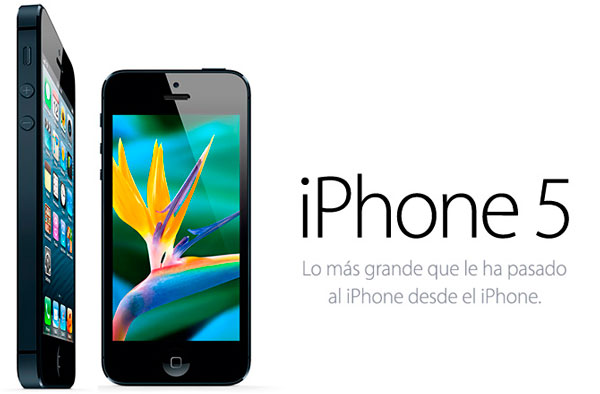 iPhone 5 negro de Apple