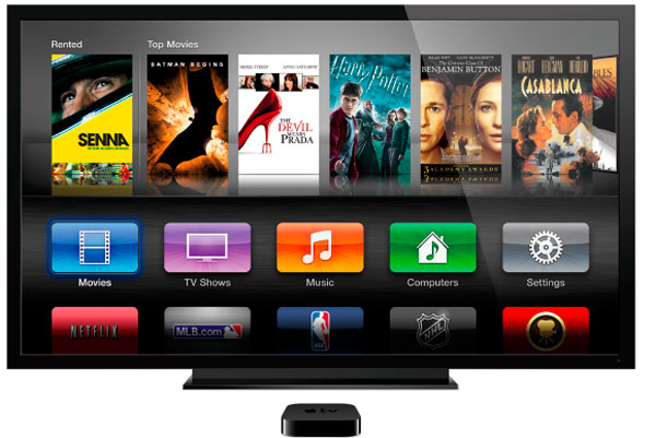 AppleTV con pantalla