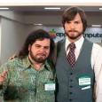 Ashton Kutcher como Steve Jobs y Josh Glad como Wozniak 1