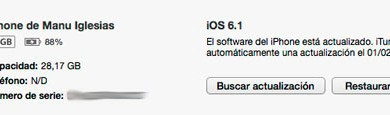 iOS 6.1 Disponible