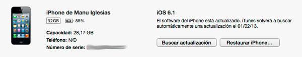 iOS 6.1 Disponible
