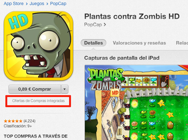 Aviso de Compras in App en la App Store