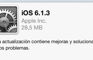 iOS 6.1.3 ya disponible