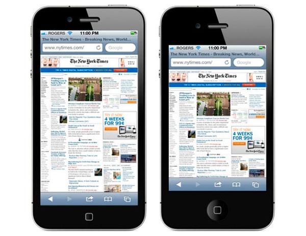 Concepto de iPhone de 3,95 pulgadas
