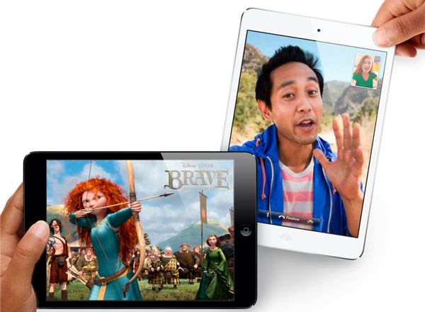 iPad Mini blanco y iPad Mini negro