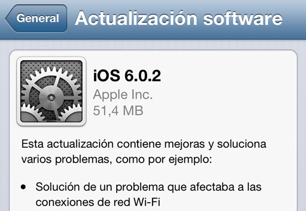iOS 6.0.2 para iPhone 5