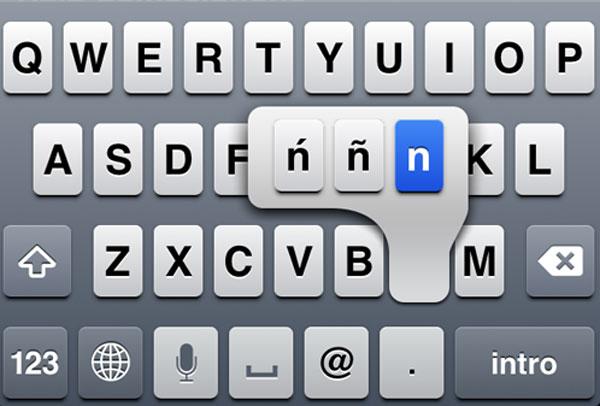 Letra Ñ en iOS