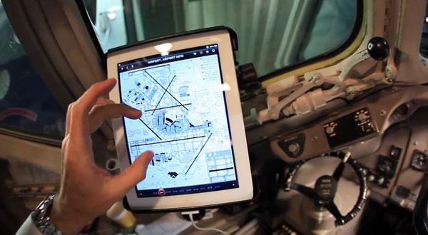 iPad en un avión